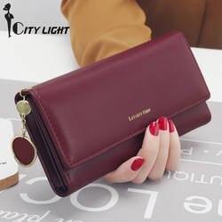 Новые модные женские кошельки длинный стиль мульти-функциональный кошелек свежий искусственная кожа женский клатч держатель для карт