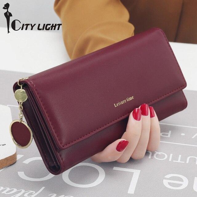 Новые модные женские туфли кошельки Длинные Стиль многофункциональный бумажник кошелек свежий Искусственная кожа женский клатч держатель для карт