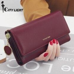 Neue Mode Frauen Geldbörsen Lange Stil Multi-funktionale geldbörse Frische PU leder Weibliche Kupplung Karte Halter