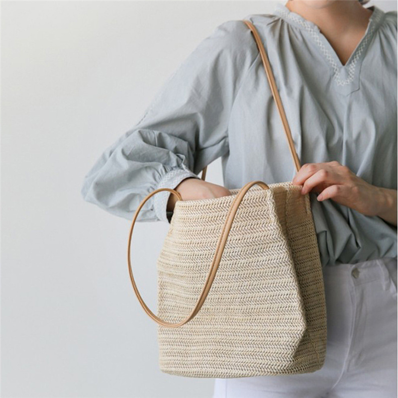 New Women Bags Straw Shoulder Handbag Tote Messenger Hobo Satchel Bag Beach Bags