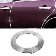 VODOOL 15 m Auto Chrome Decor Strip Trim Bordo Autoadesivo Auto Del Corpo Finestra di Stampaggio Trim Sticker Accessori Auto Decorazione Esterna