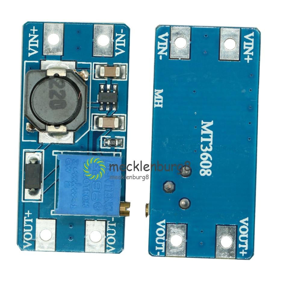 5PCS MT3608 2A Max DC-DC Step Up Converter Booster Power Supply Module Boost 2V - 24V To 5V 9V 12V 28V For Arduino LM2577