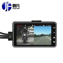 JUEFAN Full HD 720P Camera Separation Dual Lens 140 Degree Angle 3.0 inch Dash cam Motorcycle Recorder DVR