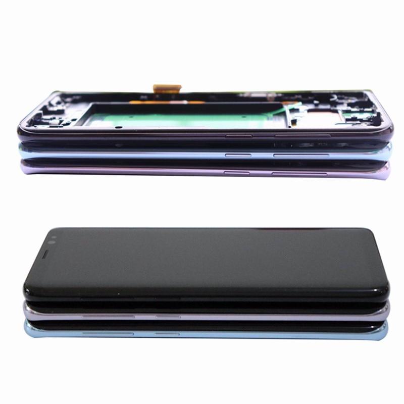 HTB1kw9BB3KTBuNkSne1q6yJoXXa7 Original Burn-Shadow Replacment For Samsung Galaxy S8 G950F G950U LCD S8 Plus G955 G955F Display Screen Touch Digitizer Assembly