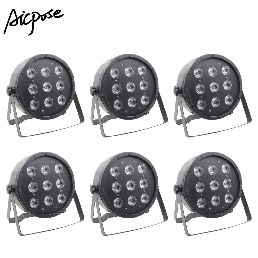 6Pcs/lots Free Shipping 9x12W RGBW 4 In 1 LED Par Lights 9*12w Par Led DMX512 Control DJ Lights Professional Stage Equipment