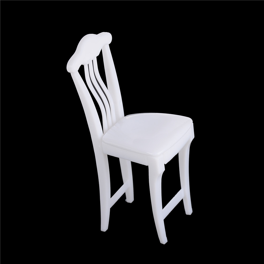 1pcs Children High Chair Toy Table Chair For Barbie Dollhouse Furniture Play House Toys Color Randomly Doll's House Accessories pattiz 1 6 color plastic chair models diy dolls accessories action figure mini dollhouse furniture toy folding chair girl gift