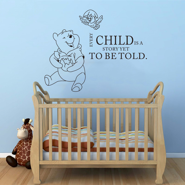 Wall decals quotes winnie the pooh quote vinyl sticker nursery room bedroom decal baby boy girl