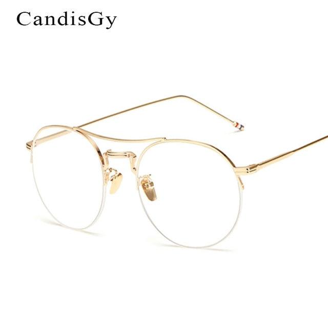 New Glasses Frame Brand Designer Women Metal Optics Classic ...