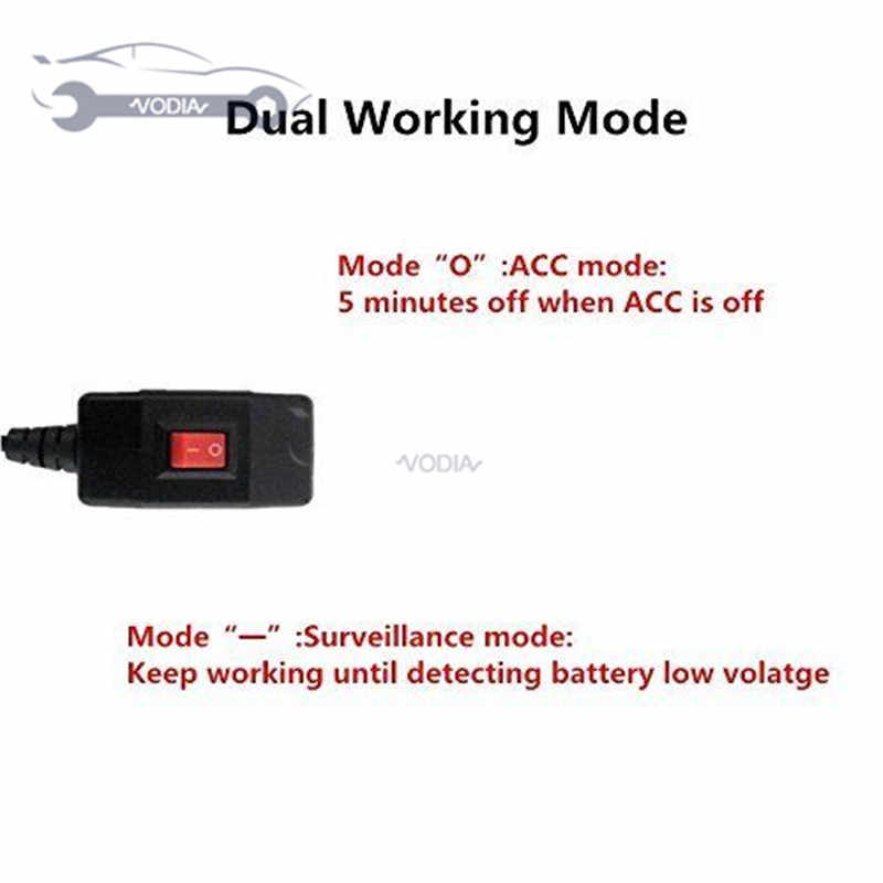 Universal USB อินเทอร์เฟซ OBD สายไฟสำหรับกล้อง Dash 24 ชั่วโมงการเฝ้าระวังโหมดสวิทช์ mini-usb