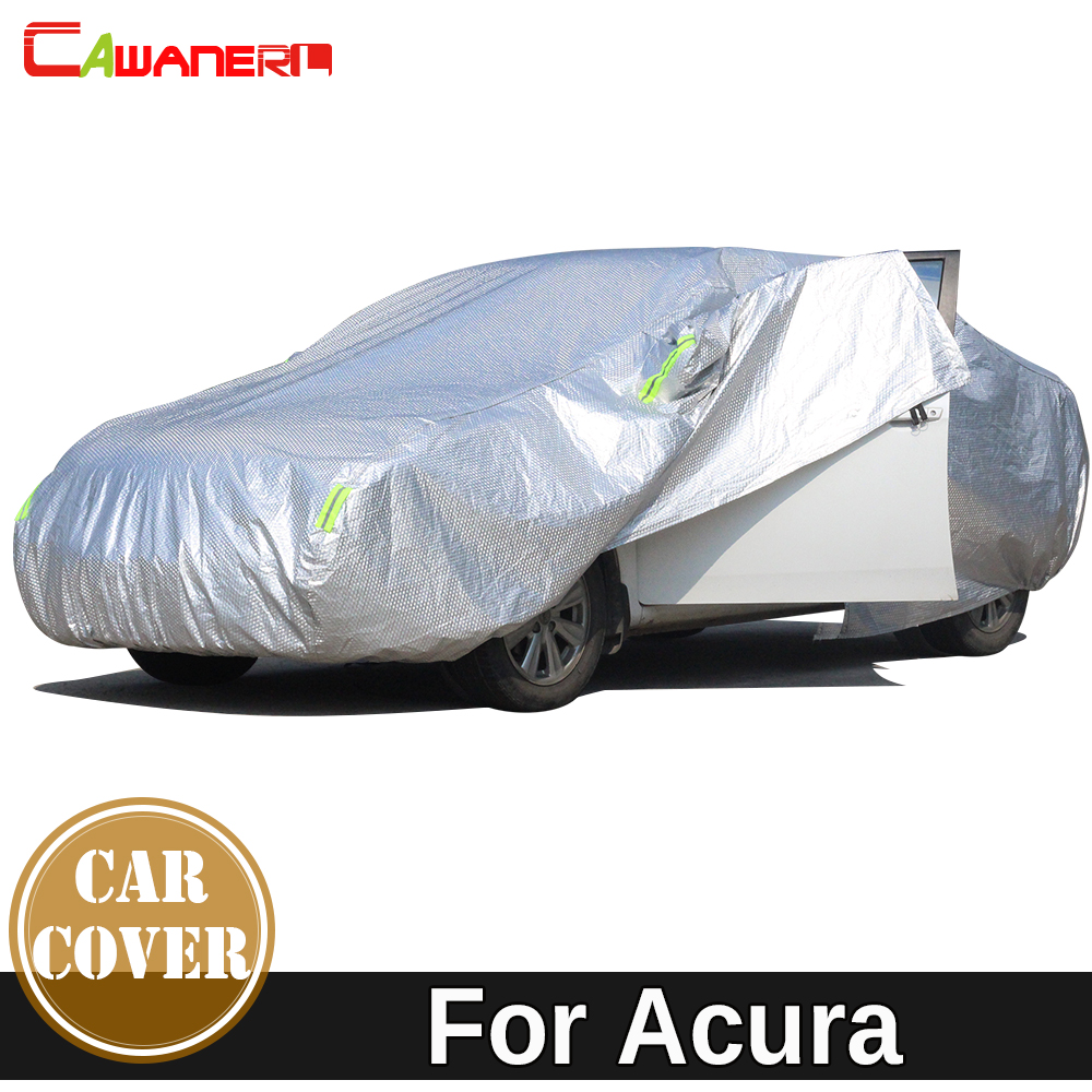 Cawanerl Thicken Cotton Car Cover Waterproof Anti UV Sun