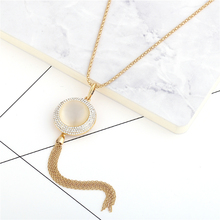 2017New Fashion Jewelry Circular diamond Tassel Pendant Necklaces Long Tassel Sweater Chain Necklace for Women girls цена 2017