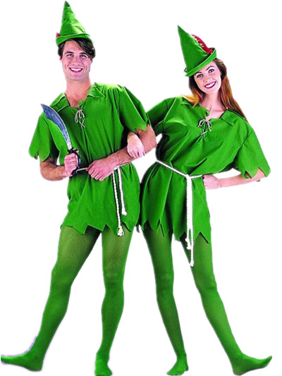 Cosplay halloween green fairy robin peter pan costumes women men children Cartoon Character - Working For Customer store