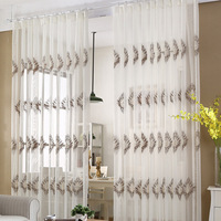European Light Cotton Embroidery Tulle For Living Dining Room Bedroom