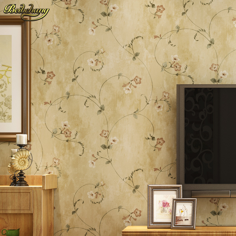 beibehang papel de parede American rural countryside retro flower anyway bedroom living room wallpaper shop for TV backdrop beibehang papel de parede 3d dimensional relief korean garden flower bedroom wallpaper shop for living room backdrop wall paper