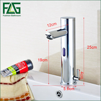 Design Hot And Cold Automatic Hands Touch Free Sensor Faucet Bathroom Sink Tap Brass Material Bathroom faucet