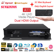 Egreat A11 3D 4K Blu-ray HDD Media Player 2GB 16GB Dual HDMI Output Bluetooth Android TV