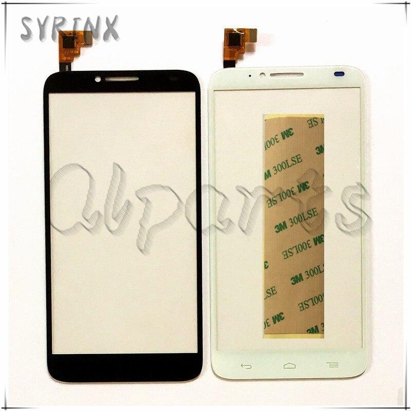 Syrinx + Bande Écran Tactile Digitizer Pour Alcatel One Touch Idol 2 6037 AFFICHAGE OT6037 6037Y face avant écran tactile en verre panneau Touchpad
