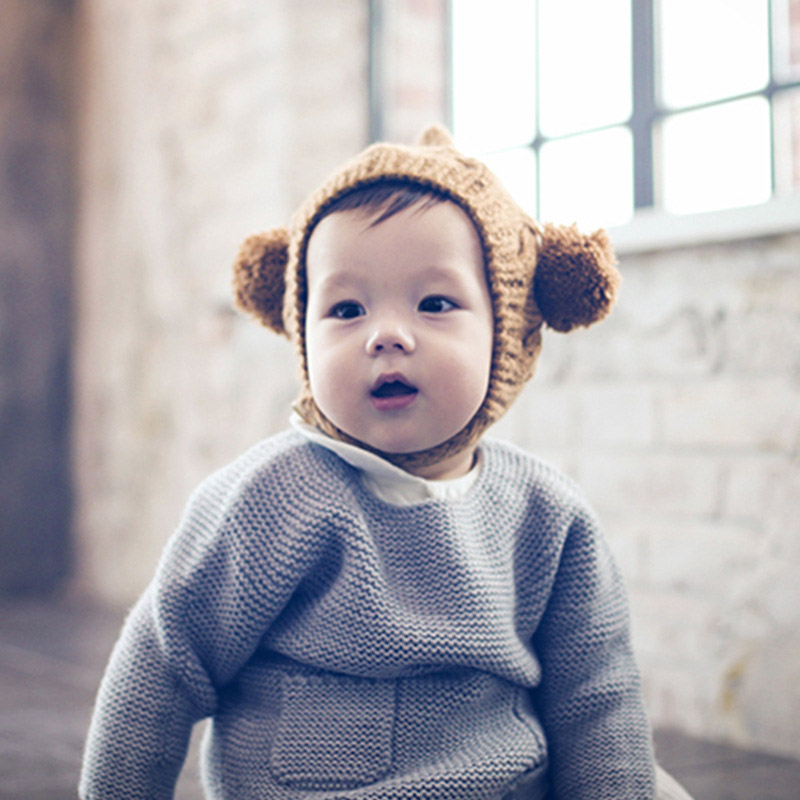 Winter Warm Baby Hat Beanie Soft Knit Children's Hats Bonnet Deer Ears Hats For Girls Pompom Baby Boy Cap Newborns Kids Cap muts
