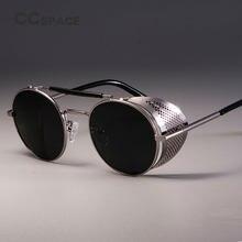 CCSPACE gafas De Sol redondas De Metal Steampunk hombres mujeres marca gafas  De diseñador Oculos De Sol sombras protección UV ce961270878d