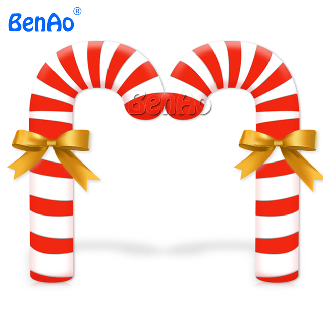 X148 Free shipping 12ft H Inflatable Candy Cane for yard Christmas Decoration ornaments for one pc