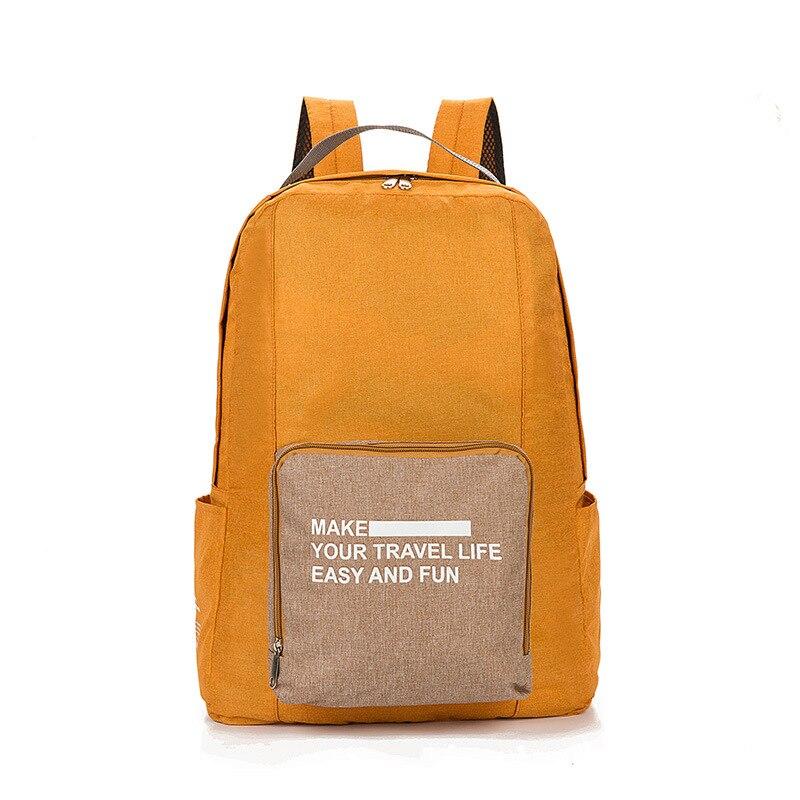 Мужские дорожные сумки, водонепроницаемая нейлоновая складная сумка для ноутбука, вместительная сумка для багажа, дорожные сумки, портативные женские сумки - Цвет: orange 3