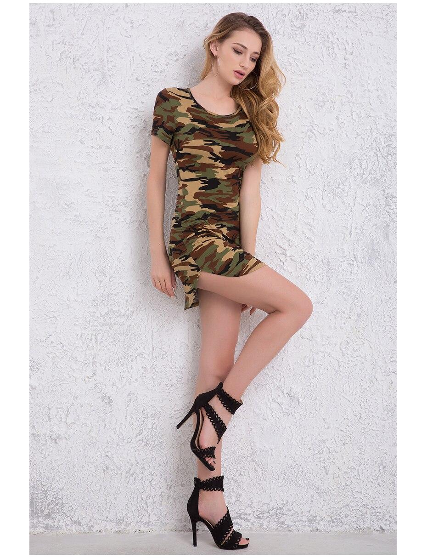 DICLOUD 2018 Fashion Women Summer Dress Short Sleeve Sexy Mini ...