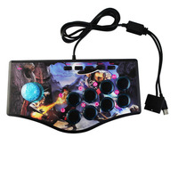 Retro Arcade Game Rocker Controller Usb Joystick For Ps2/Ps3/Pc/Android Smart Tv Built In Vibrator Eight Direction Joystick