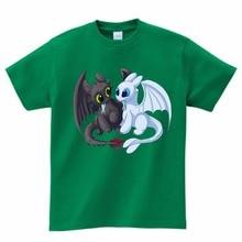2020 Pocket Toothless T-Shirt Men's Cute Tops Train Dragon Cartoon T-Shirt T-Shirt Summer Clothes Novel T-Shirt Boys Girls color block single pocket t shirt