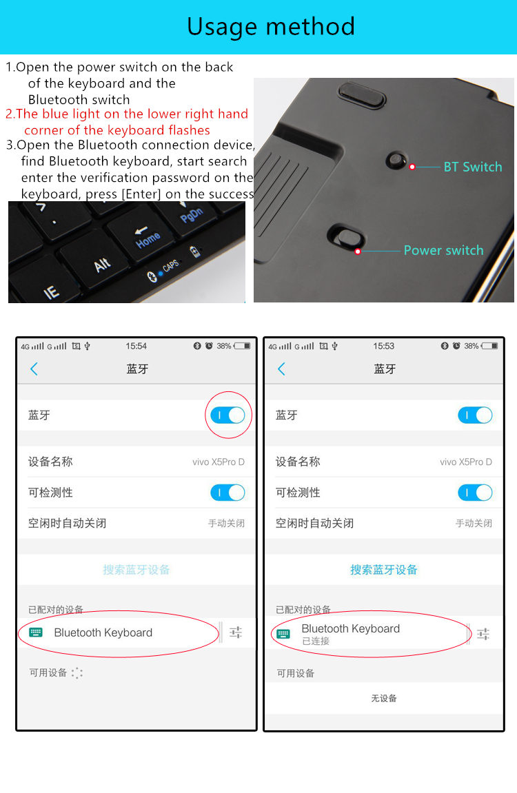 Bluetooth Keyboard For Huawei P10 P9 P8 P7 P6 Honor Mate10 Mate 9 Dell Wiring Diagram And Shift Enterswitch Input Method