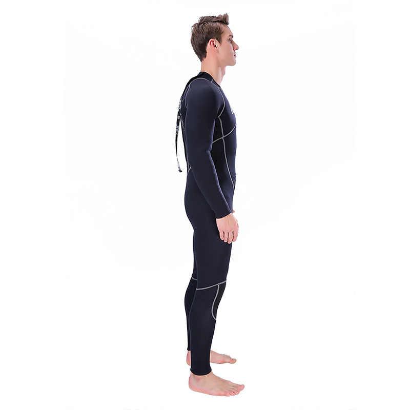 Slinx 3 Mm Neoprene Bulu Lapisan Penuh Tubuh Wetsuit Scuba Diving untuk Pria Baju Musim Dingin Surfing Snorkelling Spearfishing