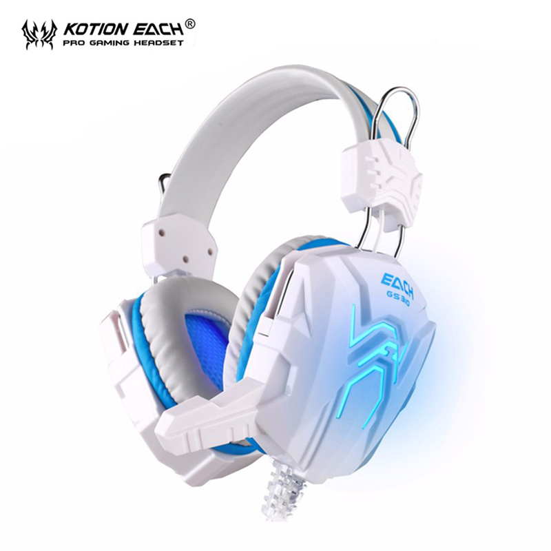KOTION EACH headphones earphone headset earphones gaming headset Wired stereo Bass LED microphone for pc gamer