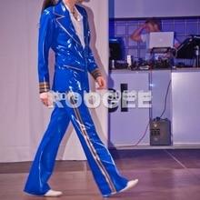 Men fashion latex jackets+trousers