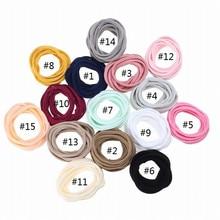 1000pcs/lot New Super Soft traceless Stretchy thin skinny Nylon Headbands for Bebe Girls kids base headband hair accessories