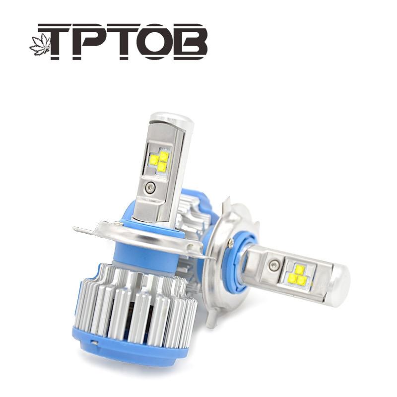 TPTOB T1 turbo coche Led faro H1 H3 H4 H7 H8 H9 H11 9004, 9005, 9006, 880, 881 DRL día luz canbus lámpara