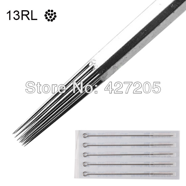 50pcs/box 13RL Sterilized Disposable Tattoo Needles Tattoo Kit Tattoo Machine Supplies Free Shipping
