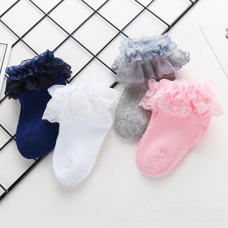 0-1years Pasgeboren Baby Katoenen Sokken Kant Prinses Gekamd Katoenen Sokken Voor Meisjes Zomer Lente Baby Babe Sokken 2018 Nieuwe Onderscheidend Vanwege Zijn Traditionele Eigenschappen