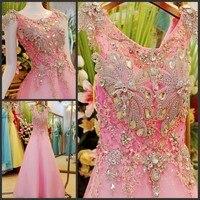 2014 New Design Real Picture A Line Floor Length Crystal Beaded Elegant Kaftan Evening Dresses For