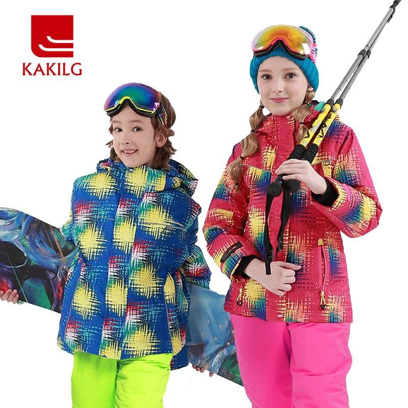 Filles épais combinaison de Ski imperméable veste de Ski pantalon de Ski vêtements de neige coupe-vent-30 degrés