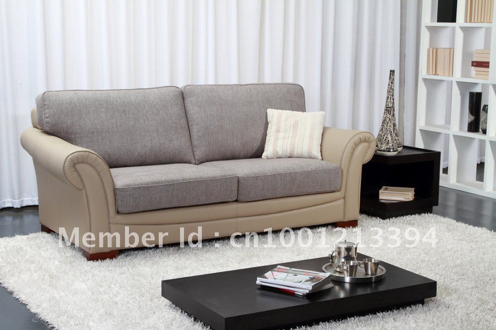 Modern furniture living room fabric sofa 3 seater 2 for Living room 2 sofas