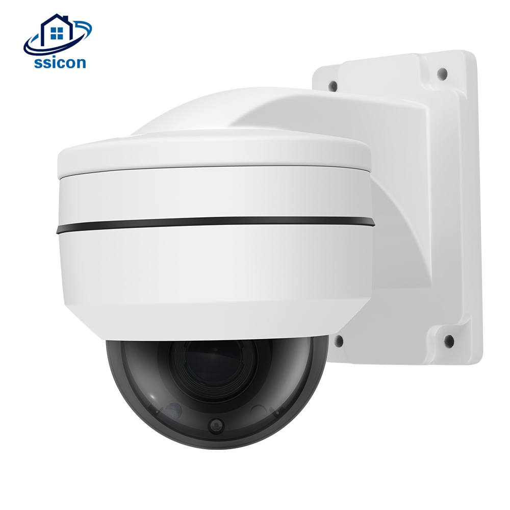 SSICON 2MP 2.5Inch Mini Dome IP Camera PTZ 2.8-12mm Motorized Lens Waterproof Outdoor ONVIF Video Surveillance POE Camera