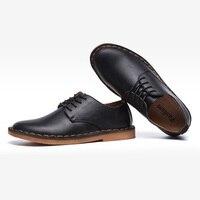 2019 Genuine Leather Men Shoes Fashion Mens Business Shoes Cow Leather Men Casual Shoes Soft Comfortable KA880
