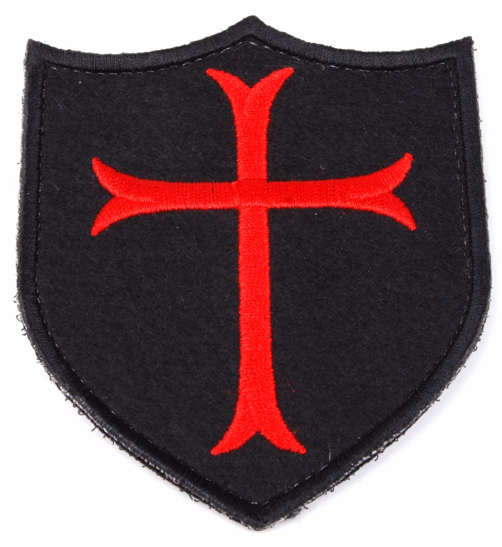 NAVY SEAL DEVGRU CRUSADER CROSS SHIELD TACTICAL EMBROIDERED PATCH