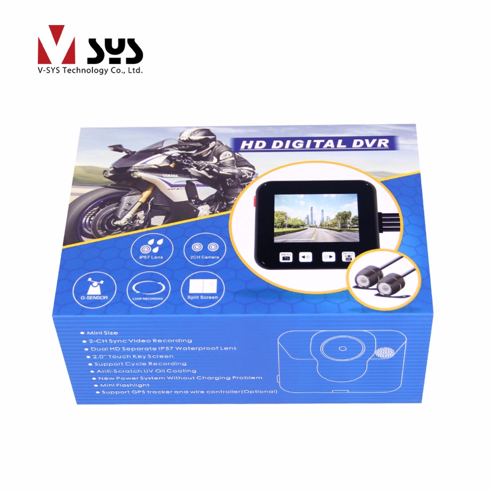 VSYS C6 Dual Front & Rear Waterproof Camera Motorcycle DVR System Vehicle Black Box Riding Camera Recorder Dash Cam, Remote GPS vsys motorcycle dvr 3 0 x2 upgrade m2f wifi real fhd dual 1080p motorcycle camera dash cam front