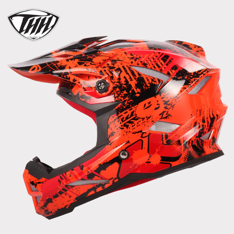 THH t42 downhill helmet cross helmet Professional Off-Road Casque mtb casco brand motocross capacete full face dh helmet thh helmet t42 kids helmets size xs alltop downhill mountain bike bicycle bmx helmet dh mtb full face ce casco capacetes