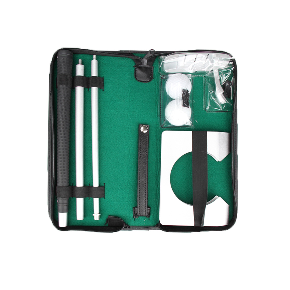 New Portable Travel Indoor Aluminum Metal Golf Putter Kit with Case Hot Sale