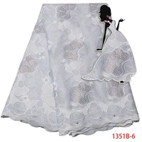 Afrikaanse Zwitserse Voile Kant Wit Afrikaanse Kant Stof Zwitserse Voile Lace Hoge Kwaliteit Laatste Afrikaanse Veters 2017 Trim AMY1351B-1