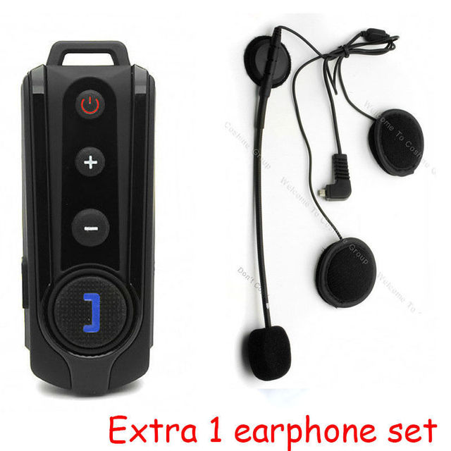 Free Shipping!BT-S1 1000m Interphone Bluetooth Motorcycle Helmet Intercom Headset FM Radio+Extra 1pcs Earpiece