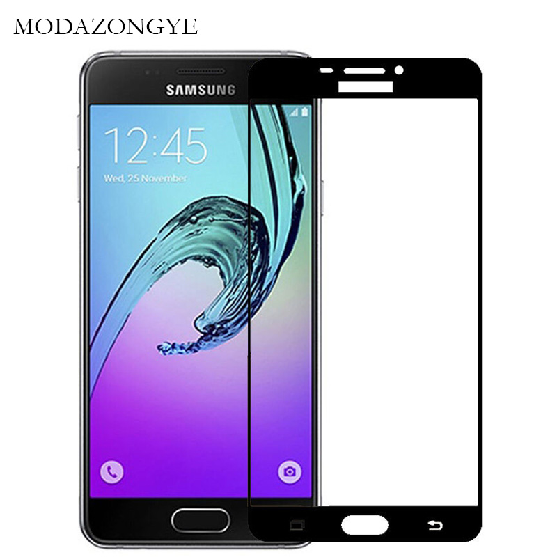 2pcs Glass For Samsung Galaxy A5 2016 Tempered Glass For Samsung Galaxy A5 2016 SM-A510F A510 Screen Protector Glass Full Cover(China)