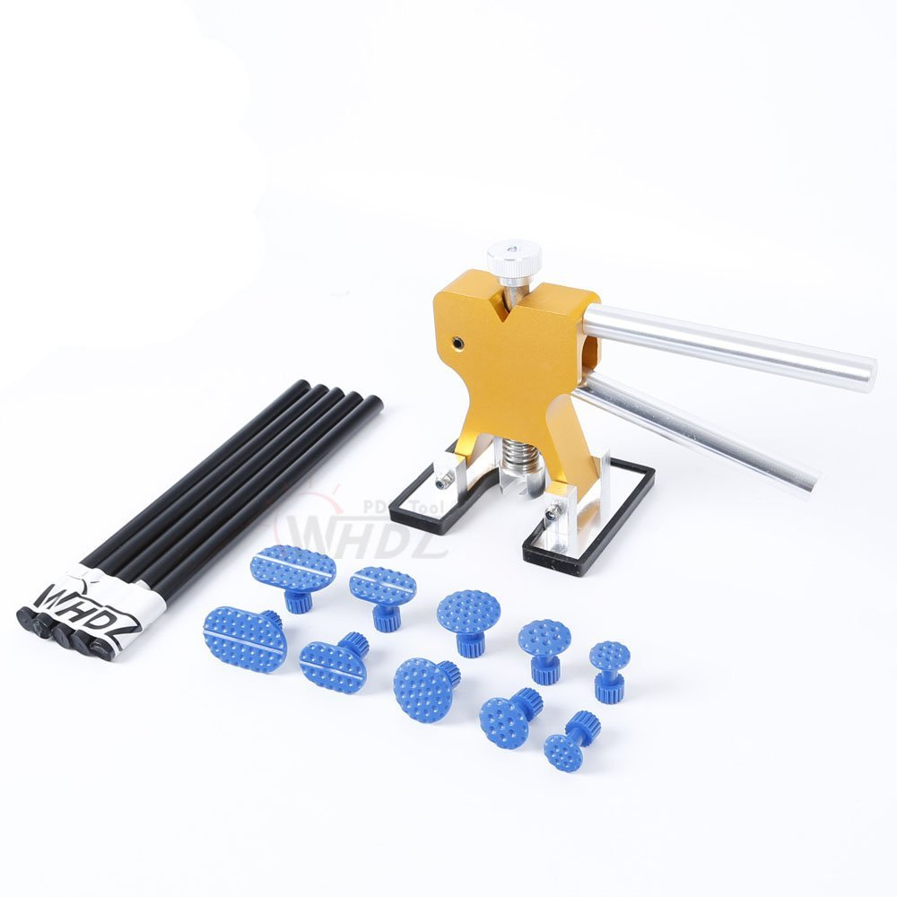PDR Tool Kit Glue Puller Hand Lifter with 10pcs Puller Tab Glue Stick Paintless Dent Repair Tool furuix pdr tool kit glue puller hand lifter 4pcs tab glue stick paintless dent repair tools