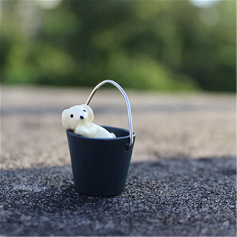 Ornament Model-Toy Puppy-Bucket Action-Figure Garden-Decor Creative Mini 1pcs Props Bird